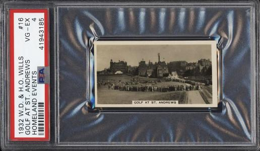 Image of: 1932 Wills Homeland Events Golf At St Andrews, Bobby Jones #16 PSA 4 VGEX (PWCC)