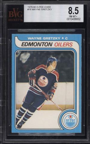 Image of: 1979 O-Pee-Chee Hockey Wayne Gretzky ROOKIE RC #16 BVG 8.5 NM-MT+ (PWCC)