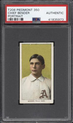 Image of: 1909-11 T206 Chief Bender PORTRAIT PSA AUTH (PWCC)