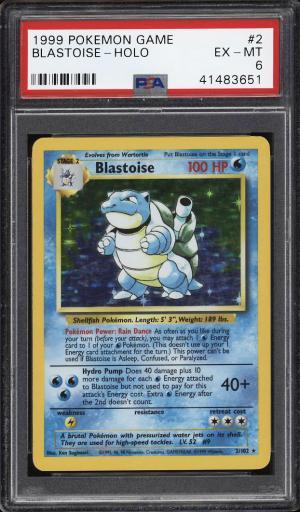 Image of: 1999 Pokemon Game Holo Blastoise #2 PSA 6 EXMT (PWCC)