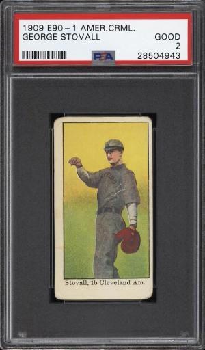 Image of: 1909 E90-1 American Caramel George Stovall PSA 2 GD (PWCC)