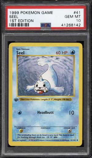 Image of: 1999 Pokemon Game 1st Edition Seel #41 PSA 10 GEM MINT (PWCC)