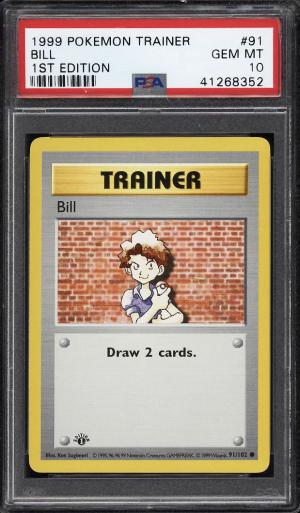 Image of: 1999 Pokemon Game 1st Edition Bill #91 PSA 10 GEM MINT (PWCC)