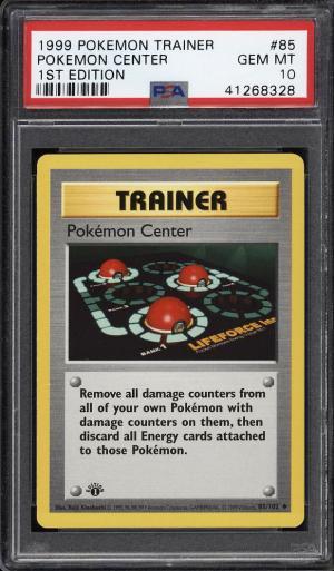 Image of: 1999 Pokemon Game 1st Edition Pokemon Center #85 PSA 10 GEM MINT (PWCC)