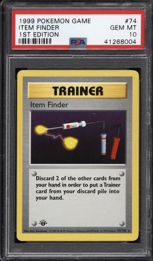 Image of: 1999 Pokemon Game 1st Edition Item Finder #74 PSA 10 GEM MINT (PWCC)