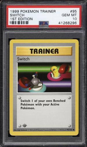 Image of: 1999 Pokemon Game 1st Edition Switch #95 PSA 10 GEM MINT (PWCC)