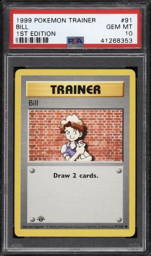 Image of: 1999 Pokemon Game 1st Edition Bill #91 PSA 10 GEM MINT (PWCC)