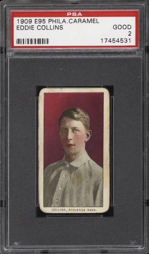 Image of: 1909 E95 Philadelphia Caramel Eddie Collins PSA 2 GD (PWCC)