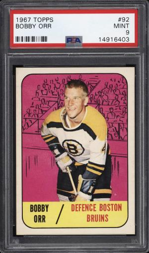 Image of: 1967 Topps Hockey Bobby Orr #92 PSA 9 MINT (PWCC)