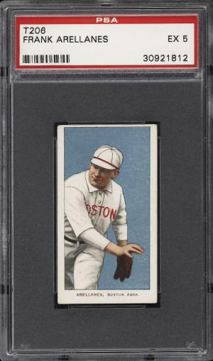 Image of: 1909-11 T206 Frank Arellanes PSA 5 EX (PWCC)