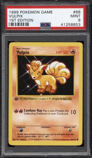 Image of: 1999 Pokemon Game 1st Edition Vulpix #68 PSA 9 MINT (PWCC)