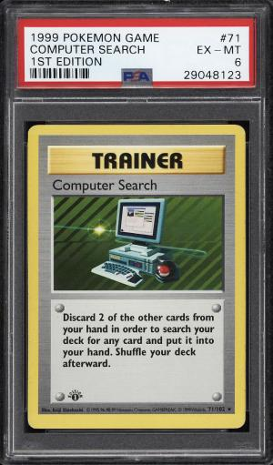 Image of: 1999 Pokemon Game 1st Edition Computer Search #71 PSA 6 EXMT (PWCC)