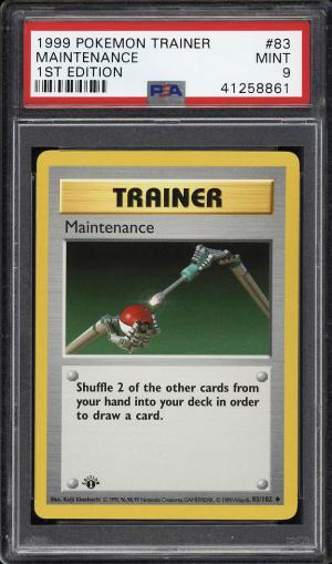 Image of: 1999 Pokemon Game 1st Edition Maintenance #83 PSA 9 MINT (PWCC)