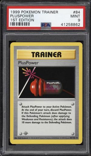 Image of: 1999 Pokemon Game 1st Edition Pluspower #84 PSA 9 MINT (PWCC)