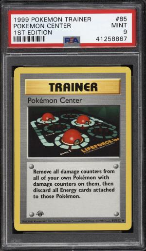 Image of: 1999 Pokemon Game 1st Edition Pokemon Center #85 PSA 9 MINT (PWCC)