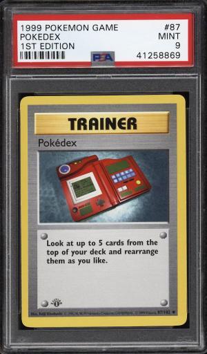 Image of: 1999 Pokemon Game 1st Edition Pokedex #87 PSA 9 MINT (PWCC)