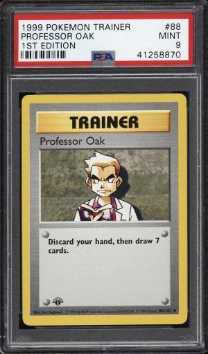 Image of: 1999 Pokemon Game 1st Edition Professor Oak #88 PSA 9 MINT (PWCC)