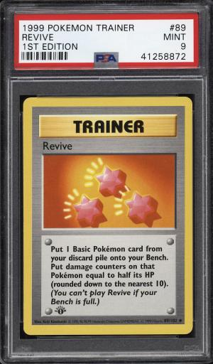 Image of: 1999 Pokemon Game 1st Edition Revive #89 PSA 9 MINT (PWCC)