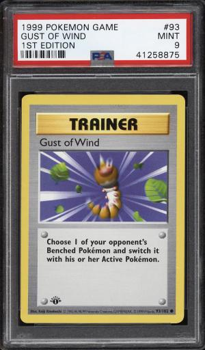 Image of: 1999 Pokemon Game 1st Edition Gust Of Wind #93 PSA 9 MINT (PWCC)