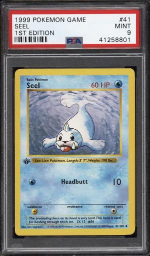 Image of: 1999 Pokemon Game 1st Edition Seel #41 PSA 9 MINT (PWCC)