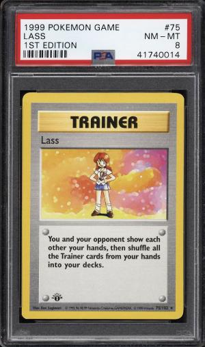 Image of: 1999 Pokemon Game 1st Edition Lass #75 PSA 8 NM-MT (PWCC)
