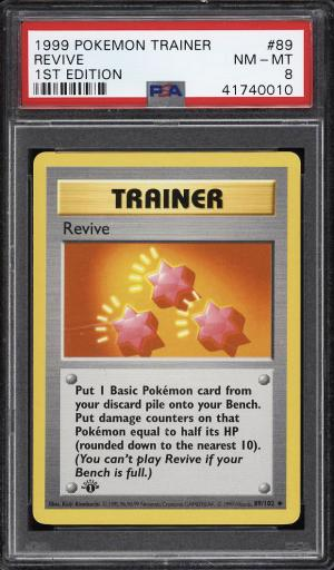 Image of: 1999 Pokemon Game 1st Edition Revive #89 PSA 8 NM-MT (PWCC)