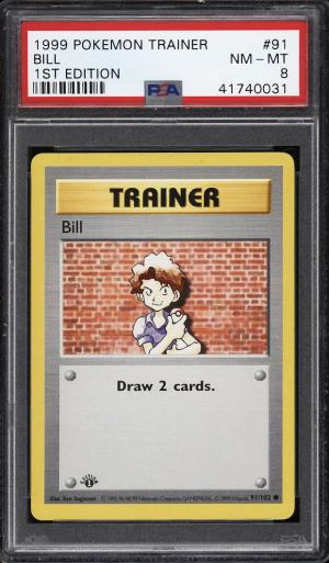 Image of: 1999 Pokemon Game 1st Edition Bill #91 PSA 8 NM-MT (PWCC)
