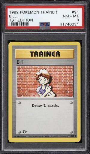 Image of: 1999 Pokemon Game 1st Edition Bill #91 PSA 8 NM-MT (PWCC)