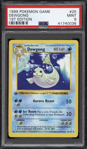 Image of: 1999 Pokemon Game 1st Edition Dewgong #25 PSA 9 MINT (PWCC)