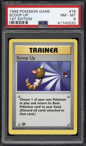 Image of: 1999 Pokemon Game 1st Edition Scoop Up #78 PSA 8 NM-MT (PWCC)