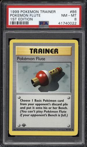 Image of: 1999 Pokemon Game 1st Edition Pokemon Flute #86 PSA 8 NM-MT (PWCC)