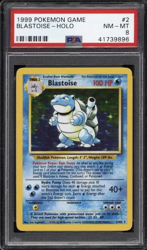 Image of: 1999 Pokemon Game Holo Blastoise #2 PSA 8 NM-MT (PWCC)