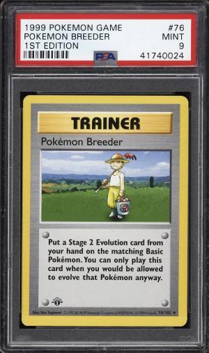 Image of: 1999 Pokemon Game 1st Edition Pokemon Breeder #76 PSA 9 MINT (PWCC)