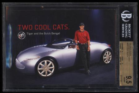 Image of: 2001 Buick Bengal Postcards Tiger Woods ROOKIE RC #NNO BGS 9.5 GEM MINT (PWCC)