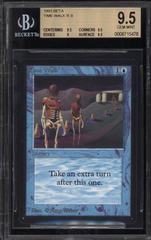 Image of: 1993 Magic The Gathering MTG Beta Time Walk R B BGS 9.5 GEM MINT (PWCC)