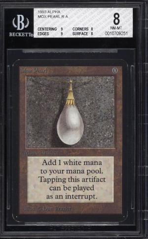 Image of: 1993 Magic The Gathering MTG Alpha Mox Pearl R A BGS 8 NM-MT (PWCC)