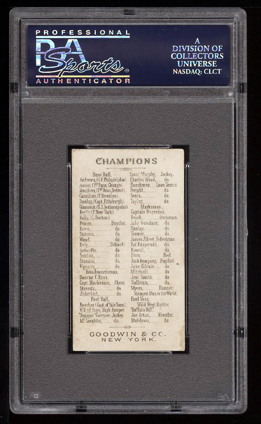 Image 2 of: 1888 N162 Goodwin Champions Cap Anson PSA 4.5 VGEX+ (PWCC)