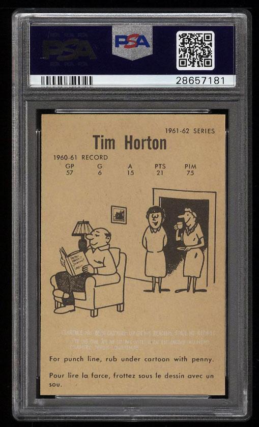 Image 2 of: 1961 Parkhurst Tim Horton #1 PSA 10 GEM MINT (PWCC)