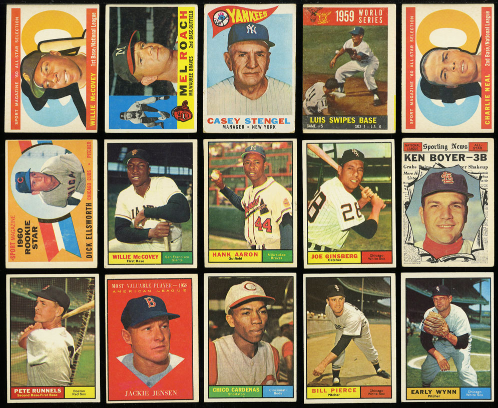 Image 2 of: Lot(58) 1952-68 Topps w/ Mays Aaron Ruth Mantle Maris McCovey, GD/VG (PWCC)