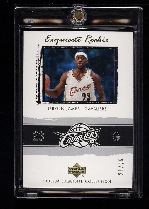 Image 1 of: 2003 Exquisite Collection Gold LeBron James ROOKIE RC /25 #78 (PWCC)