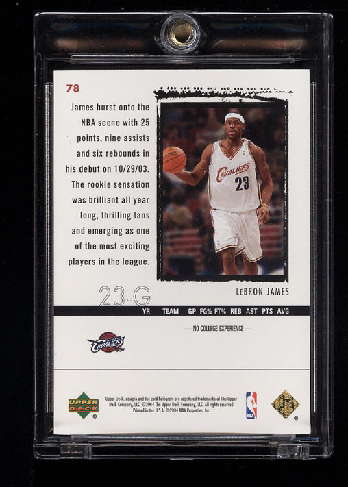 Image 2 of: 2003 Exquisite Collection Gold LeBron James ROOKIE RC /25 #78 (PWCC)