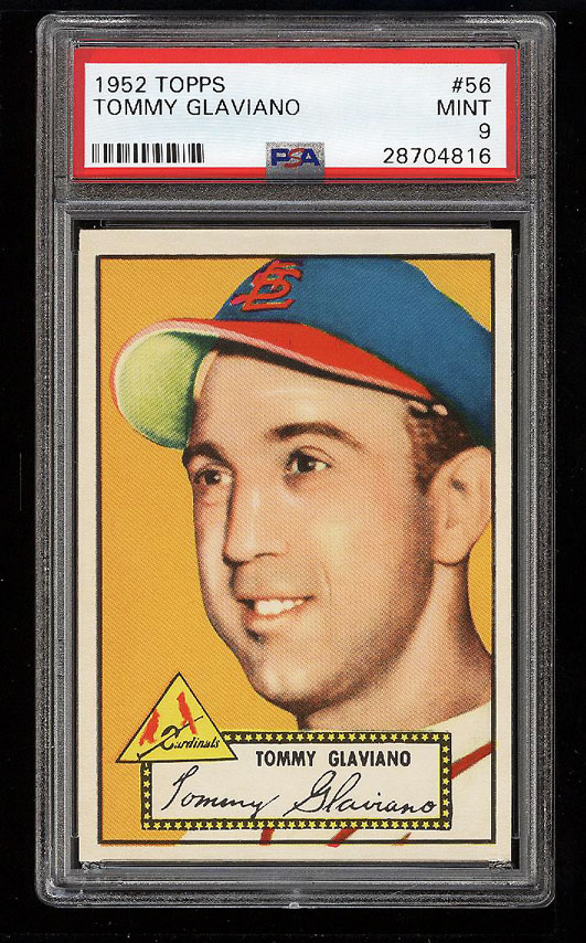 Image 1 of: 1952 Topps Tommy Glaviano #56 PSA 9 MINT (PWCC)