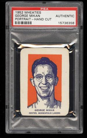 Image of: 1952 Wheaties George Mikan PORTRAIT PSA AUTH (PWCC)