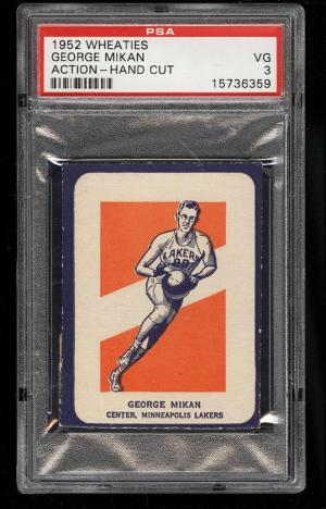 Image of: 1952 Wheaties George Mikan ACTION PSA 3 VG (PWCC)