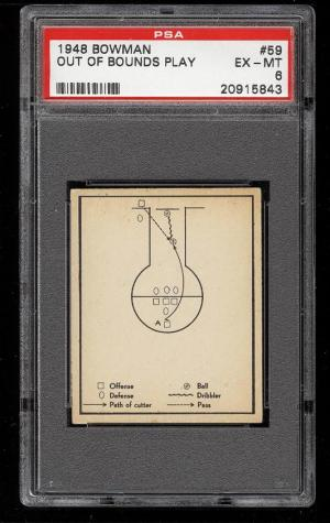 Image of: 1948 Bowman Basketball Out Of Bounds Play #59 PSA 6 EXMT (PWCC)