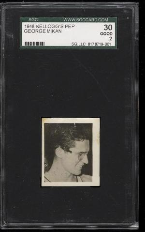 Image of: 1948 Kelloggs Basketball Pep George Mikan ROOKIE RC SGC 30/2 GD (PWCC)