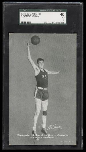 Image of: 1948 Exhibits Basketball George Mikan ROOKIE RC SGC 40/3 VG (PWCC)