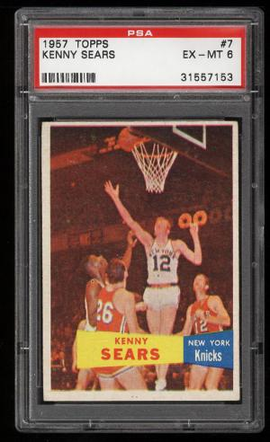 Image of: 1957 Topps Basketball Kenny Sears #7 PSA 6 EXMT (PWCC)