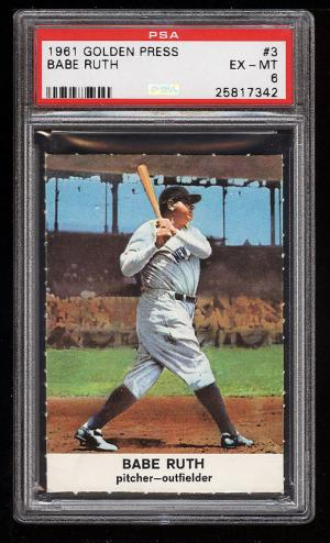 Image of: 1961 Golden Press Babe Ruth #3 PSA 6 EXMT (PWCC)