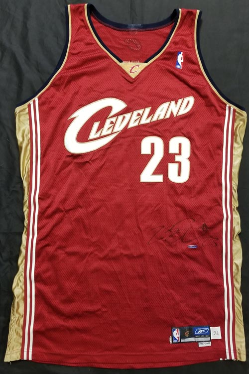 2dfc4feeca4 LeBron James Signed Autographed 2003 Game-Worn Jersey ROOKIE RC AUTO ...